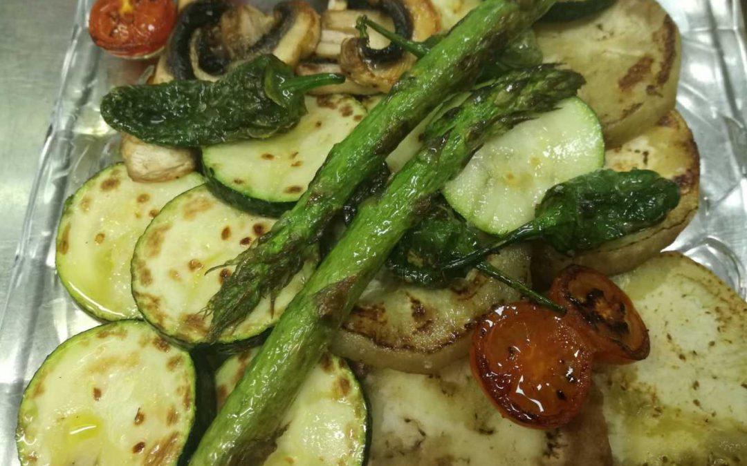 Verduras a la plancha con salsa Mery